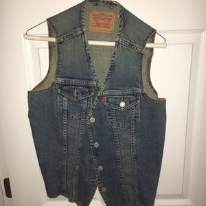 levi's jean jacket sleeveless